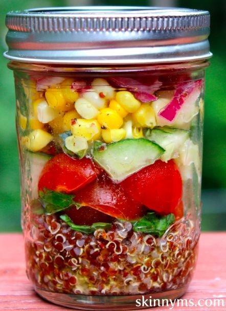 Mediterranean Quinoa Salad in a Jar