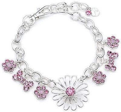Pink Flowers & Rhinestones