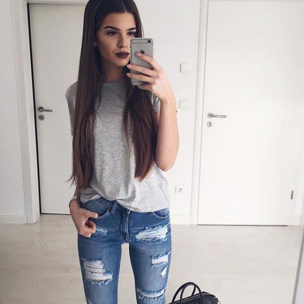 hair, clothing, jeans, hairstyle, denim,