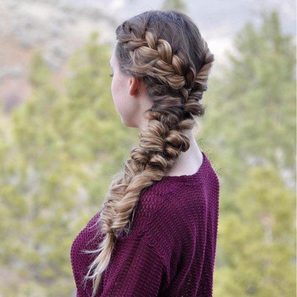 clothing, hair, hairstyle, long hair, french braid,