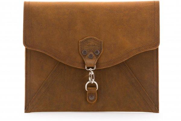 Saddleback Leather Envelope Clutch, Tobacco