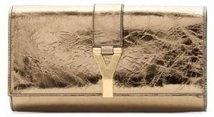 Yves Saint Laurent Gold Shimmer Clutch