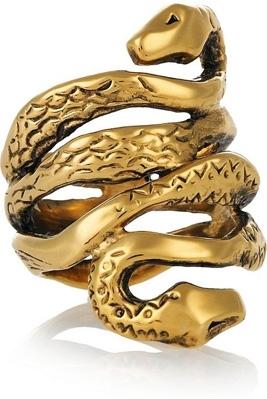 Aurelie Bidermann Mamba Gold Plated Ring