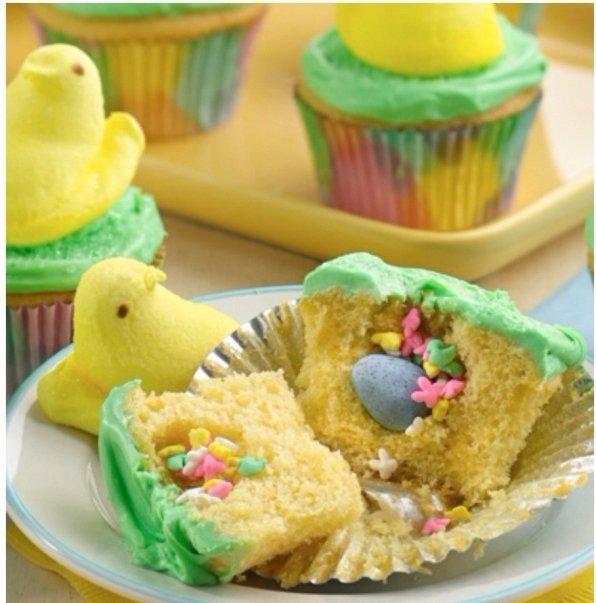 PEEPS Surprise inside Cupcakes