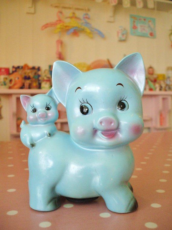 Vintage Ceramic Pig Money Box