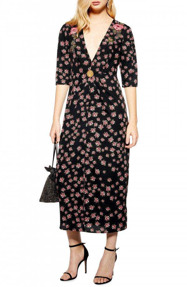 Clothing, Dress, Day dress, Sleeve, Pattern,