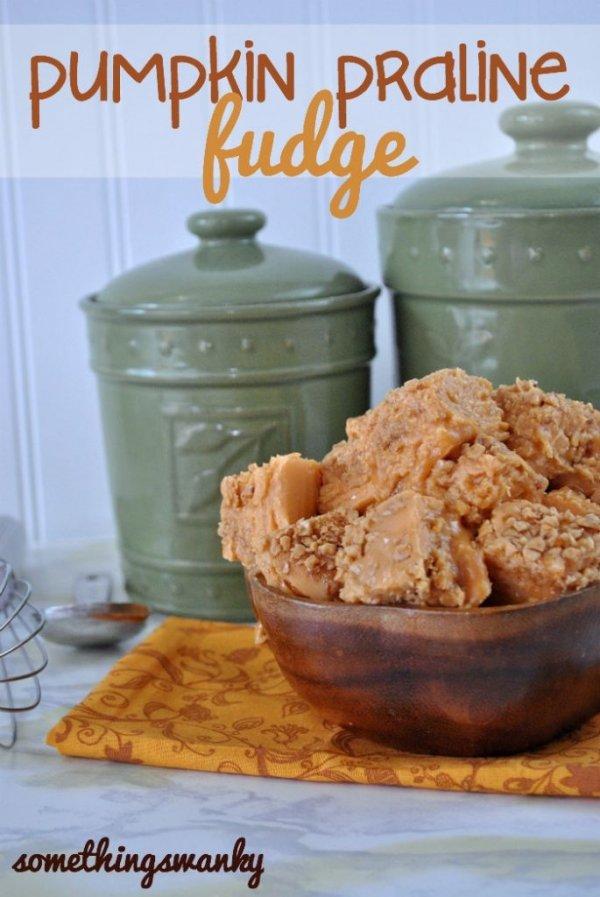Pumpkin Praline Fudge