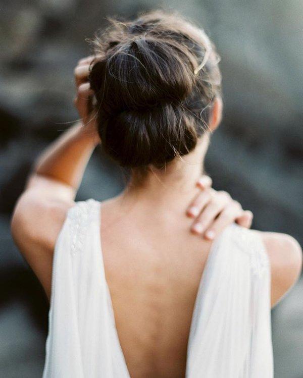 hair, hairstyle, bride, bun, chignon,