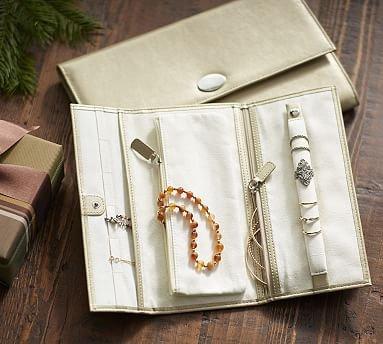 McKenna Leather Jewelry Roll
