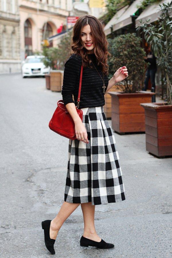 clothing,black,red,pattern,kilt,
