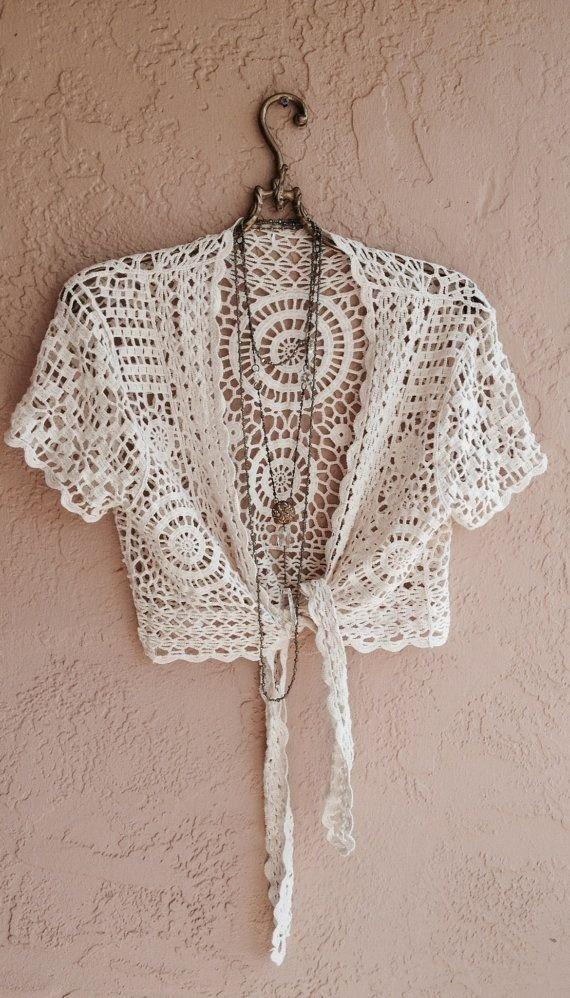 Beach Bohemian Crochet Tie