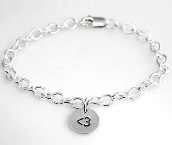<3 Heart Charm Bracelet