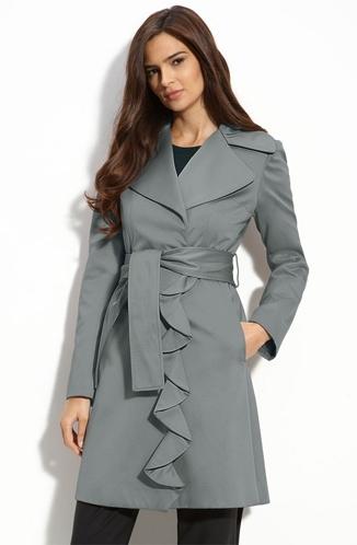 "Tahari ""Evelyn"" Satin Trench Coat"