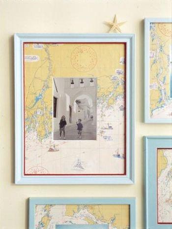 Use a Map as a Photo Mat