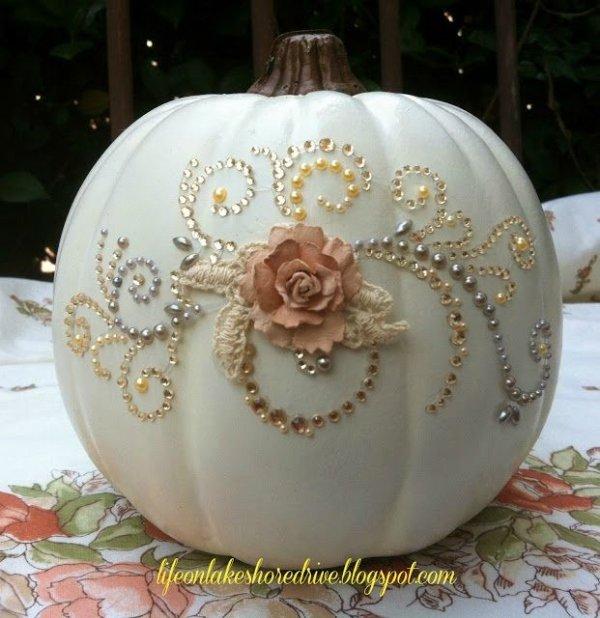 Shabby Chic Pumpkin Glitz & Glitter