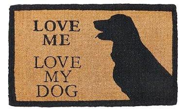 LOVE ME, LOVE MY DOG DOORMAT