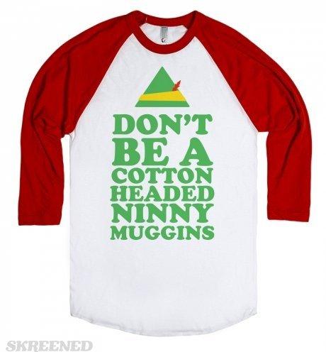 White/Red T-Shirt Funny Elf Movie Shirts