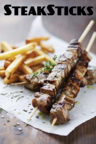 Steak Frites on a Stick