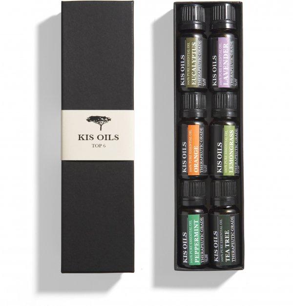 Aromatherapy Top 6 100% Pure Therapeutic Grade Essential Oil Set