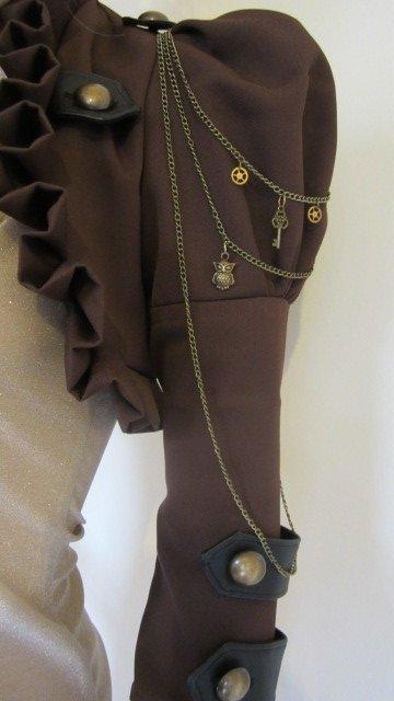 Brown Steam Bolero Jacket