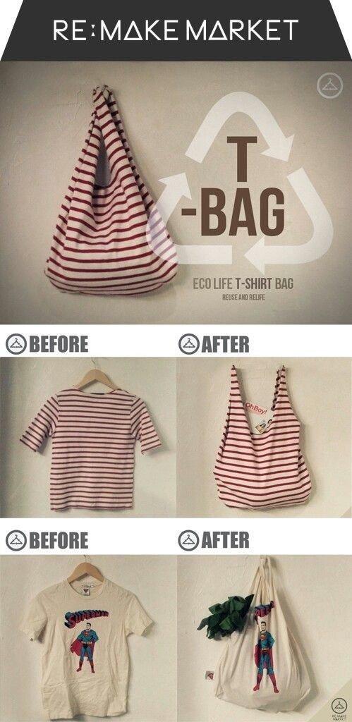 Tshirt up Cycle to Bag