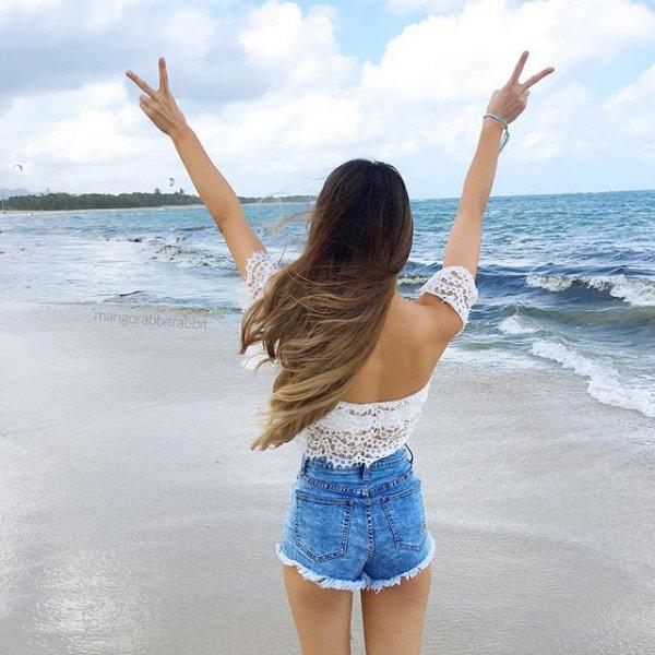 clothing, vacation, blue, sea, shore,