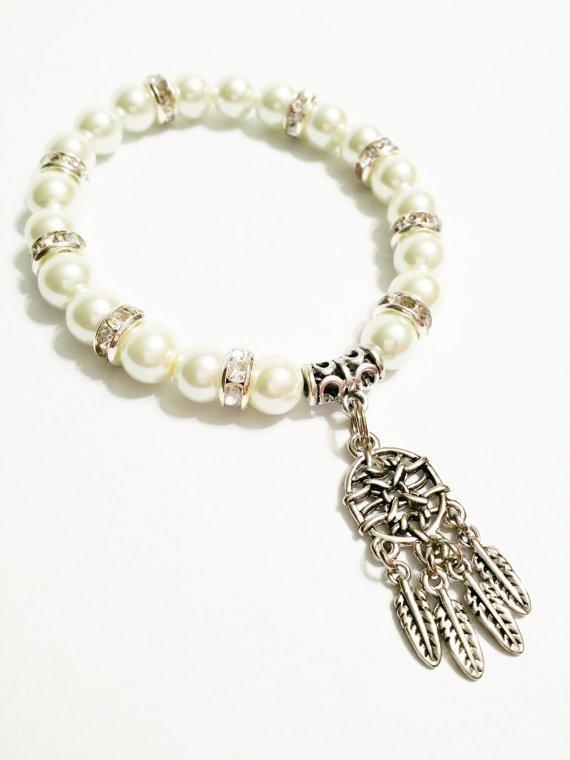 Pearl DreamCatcher Charm Bracelet