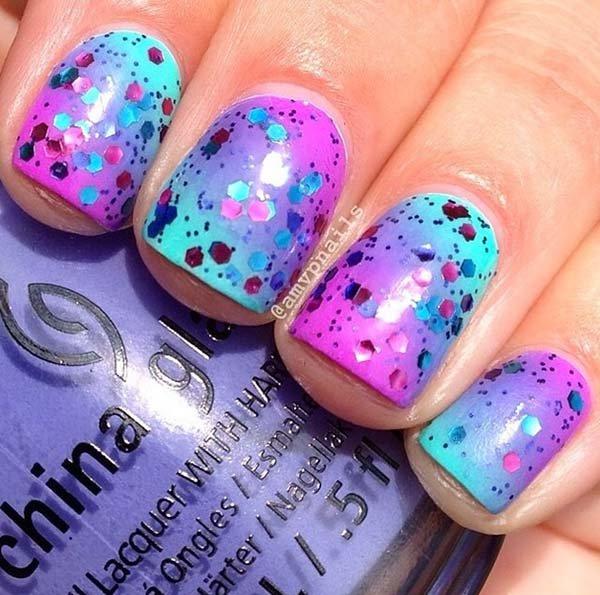 color, nail, finger, purple, blue,