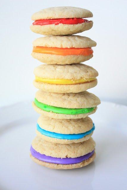Double Vanilla Delight Rainbow Cookies