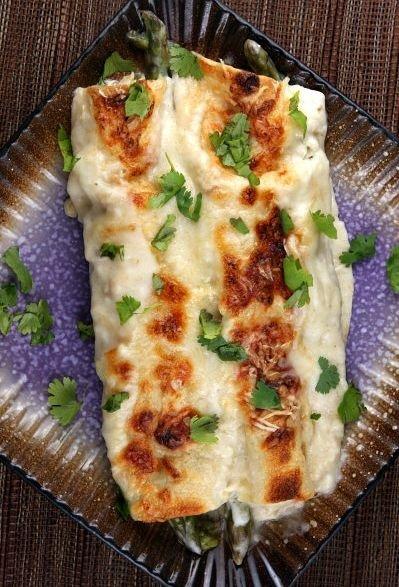 Asparagus and Chicken Enchiladas