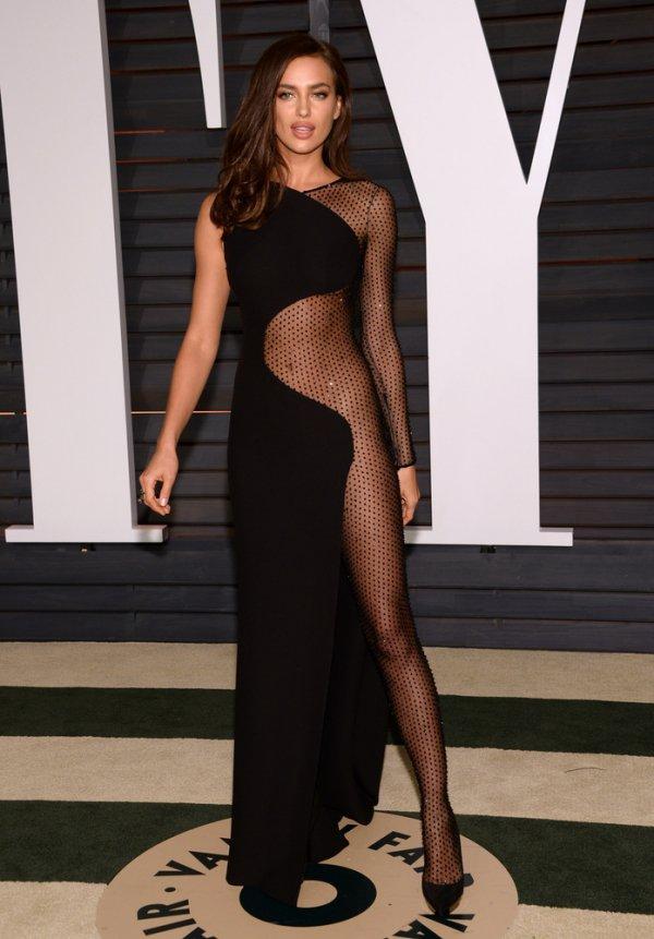 Irina Shayk at the 2015 Vanity Fair Oscars Party