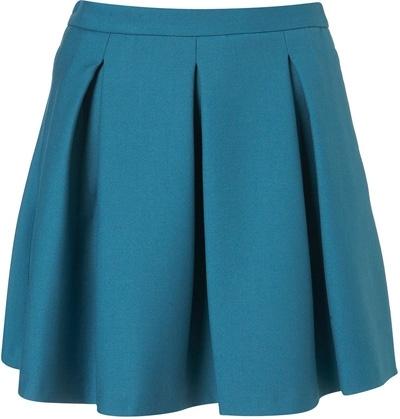 Topshop Pleated Skater Skirt