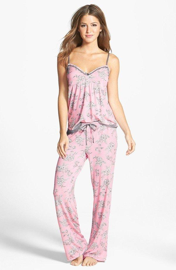 Modal Essentials Lace Trim Camisole Pajamas by PJ Salvage