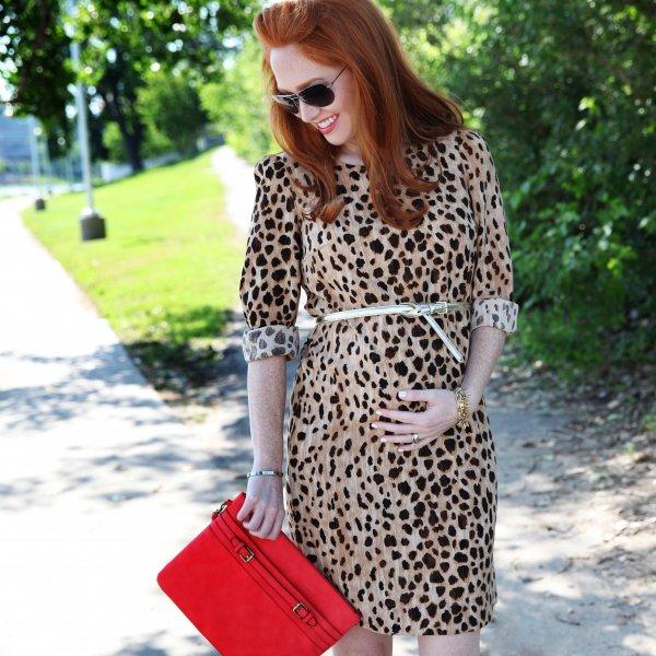 A Leopard Print Dress with Neutrals