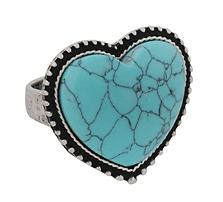 Crackled Heart Ring