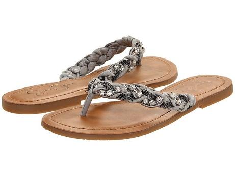 Metallic Flip Flops...
