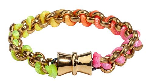 Bex Rox Golden Fluoro Friendship Bracelet
