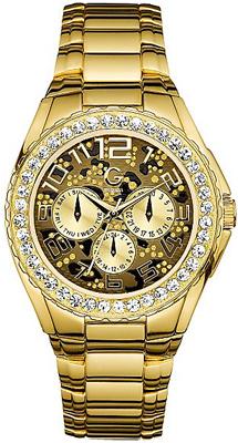 Gold-Tone Animal Print Glitz Sport Watch