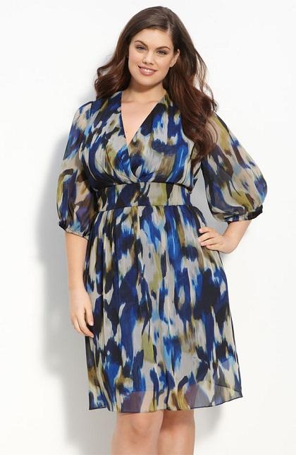 Flowy Print Perfect Dress for plus Size Women...