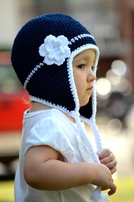 Crocheted Flower Hat...