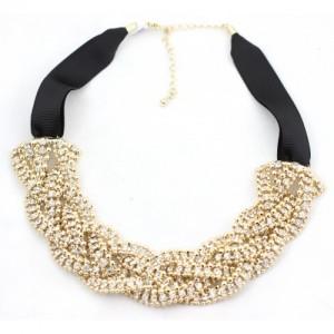 Braided Crystal Collar