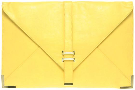 Coloured Bag - ASOS Slot through Portfolio Clutch