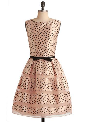 Modcloth Rosé Bubbly Dress