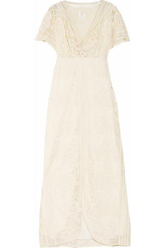 Anna Suit Floral Crochet Maxi Dress