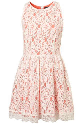 Topshop Lace Racer Dress