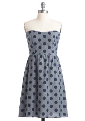 Modcloth Dots Amore Dress