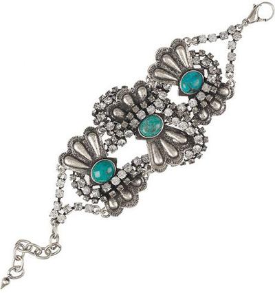 Lulu Frost Turquoise & Diamante Bracelet