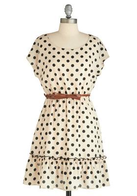 Modcloth Haute Dotty Dress