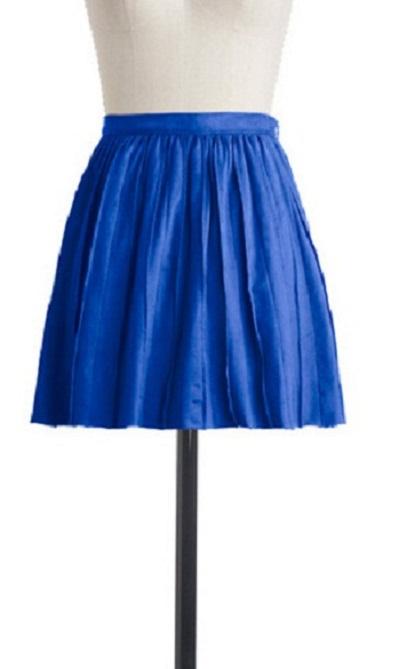 Blue Pleated Skirt...