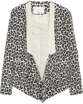 3.1 Phillip Lim Leopard Print Blazer